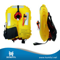 inflatable life jacket/vest automatic/manual inflatable life jacket life jacket for kayak fishing