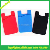 Top quality self adhesive silicone phone card holder ,3M sticky card pocket