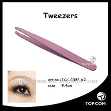 mini pink eyebrow tweezer