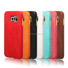Crocodile pattern leather design mobile phone cover for samsung galaxy S6