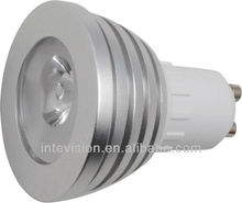 2012 hot selling 3w RGB led lamps from china gu10