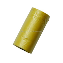 Yellow pet dog waste bag
