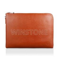 Genuine leather multifunction document bag for men