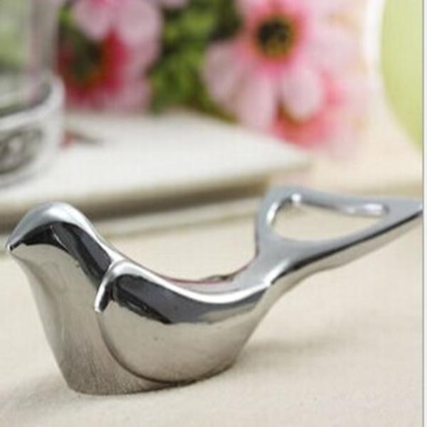 el amor de las aves de metal paloma al por mayor venta caliente de la boda decoración de la <span class=keywords><strong>mesa</strong></span> de la botella abridor