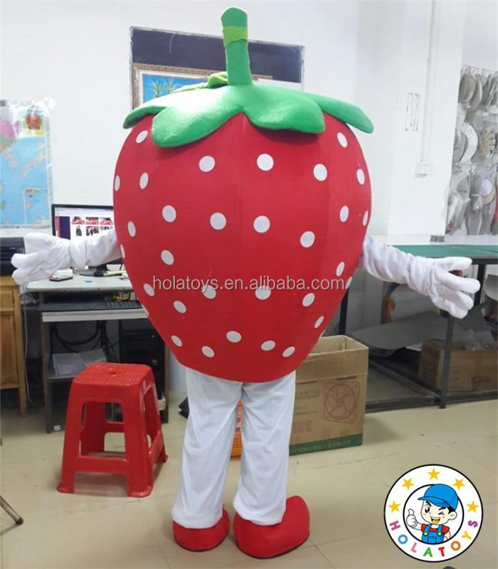 2016 shopkins mascotte costume/shopkins fraise cosplay costume pour vente
