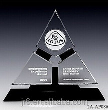 2012 new design fashion cheap glass crystal trophy for sale