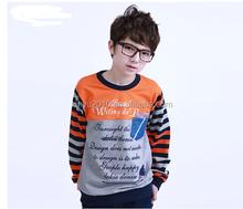 new arrival hot sell fashion children stripe longsleeve t shirt