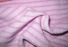 Chinese manufactured pink soft terry