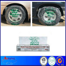Disposable PE Plastic Car Tire Cover for Used Car Sales