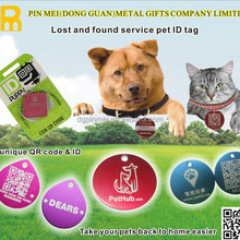 2015 personlized custom wholesale pet id collar tags for pet and cat