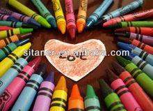 Colors wax crayon with ASTM, EN71, REACH, CE test