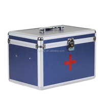 Hospital first-aid kit box medicine trolley case aluminum case for doctor and packing medicine