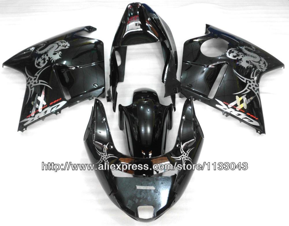 Fairing kit Black/Whitefor Honda CBR1100XX 96-05 CBR1100 XX 96 05 1996 2005 CBR 1100XX 96 05 CBR 1100 XX 96 05 +7 gift