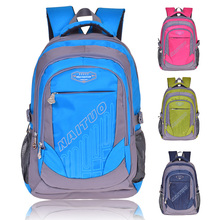 2015 Hot selling nylon school backpack bag for students Can OEM by printing Logo