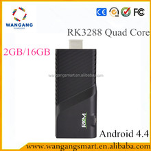 Android tv dongle RKM V5 android mini pc Rockchip RK3288 quad core 4k quad core rk3288 android smart tv stick dongle