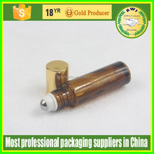 Adorable amber color Roll On Glass Perfume Bottles For Sale