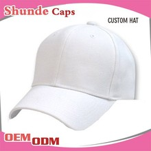 100% Cotton Wholesale Golf Hats Plain 6 Panel Hat Baseball Cap