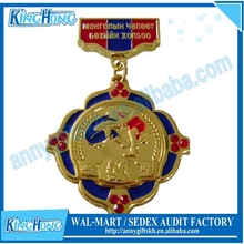 Customized Die casting 2D / 3D gold silver bronze metal medal producer