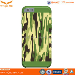 Attractive Camo Printing PC+Silicone Protective Cover For IPhone 6 Cell Phone Accessories Factory
