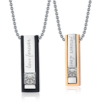 New Arrive Couples necklace Stainless Steel Forever Love Pendant Necklace