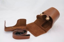 Camera Case For Samsung NX3000 with 16-50mm 20-50mm Lens PU Leather Bag Cover Grip strap