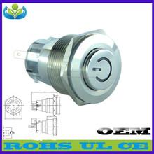 High-grade 22 mm aluminium 8 pin push button switch 250 v button switch(Factory direct sale)