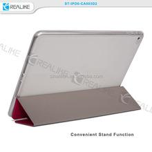 for apple ipad air 2 slim pu tri - fold standing case, no stitching case