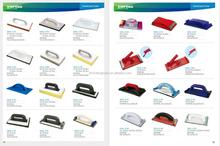 plaster trowel/sanding block/floats trowel adhesive discs plastic backing pads velcro polishing abrasive block plastic backing
