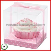 Transparent fournisseur de boîte de gâteau en plastique pliable 2013 de haute qualité