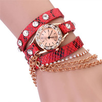 New fancy retro braided vintage women watch with factory price
