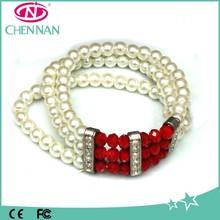 Yiwu Imitation Pearl Crystal Bead Bracelets Wholesale Murano Hand Bracelet
