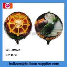 18 inch round shape wholesale mylar balloon for party decorations