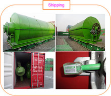 waste tyre and plastic to oil pyrolysis machine with 8 tons capacity