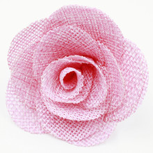 Burlap Flowers Shabby Chic Wedding Decor,Burlap fabric hair flower for baby headband
