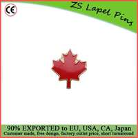 Custom Top Quality Competitve Pricing Fast Shipping Satisfaction Guaranteed Maple Leaf - Red Lapel Pin