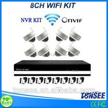 ip nvr 8ch set wifi dome camera home/office/store use P2P wireless 2mp ip camera KIT wifi hd 2mp ip camera outdoor dome sony