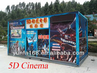5D Cinema Simulator System LED House with soundproof cotton