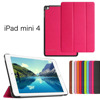 2015 smart foldable slim case cover for ipad mini 4