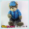 De la felpa oso de peluche para bmw, oso de peluche personalizados con un paño, oso de peluche juguetes