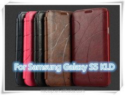 Factory Price For KLD OSCAR 2th Leather Wallet Slot Case Credit Card Cover For Samsung GALAXY S5 G900 SV