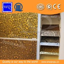 Hot sale ! Manufacturer cheap embossed wave board panels 3 d board for indoor decoration