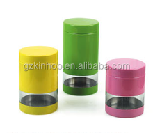 color stainless steel canisters set