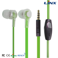 cheap plastic flat cable earbuds earpieces