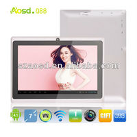 2014 Promotional 7 inch Android Tablet Without Sim Card Atm7021 dual core Q88