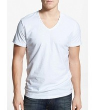 wholesale plain white 100% cotton no brand t-shirt for men