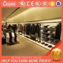 Latest design garment shop interior design for men's clothing display