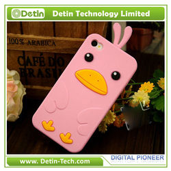Hot sale cute lovely silicone case cover for iphone 4/4s in shenzhen
