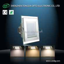 warm/pure/cool white changing ultra slim led down light square 9w 12w 18w with 3 years warranty
