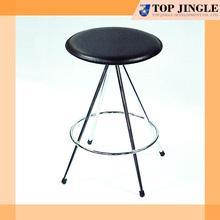 Round shape PVC leather bar stool