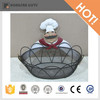 cute cast iron metal chef kitchen storage basket
